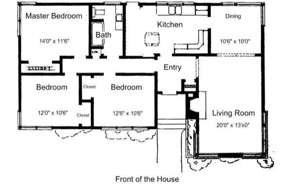 41-plantas de casas 3 quartos modelos