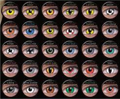 Lentes de contato criança 3 coloridas
