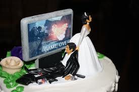 Bolo de Casamento Geek 2