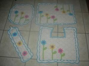 Jogos de banheiro em crochê 2
