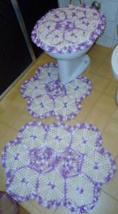 Jogos de banheiro em crochê 3