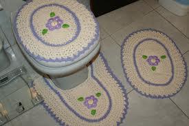 Jogos de banheiro em crochê 4
