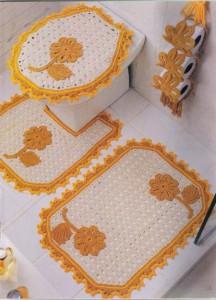 Jogos de banheiro em crochê 6
