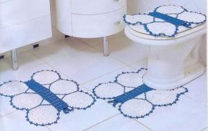 Jogos de banheiro em crochê 7