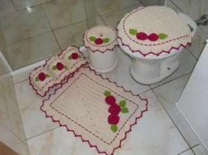 Jogos de banheiro em crochê 8