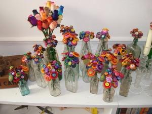 Usar garrafas de vidro na decoração