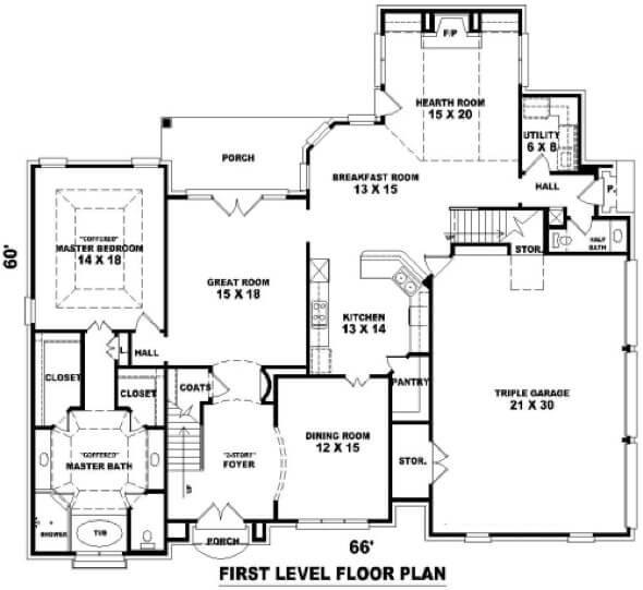 1-plantas de casas com piscinas modelos