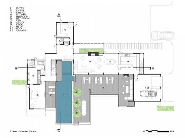 4-plantas de casas com piscinas modelos