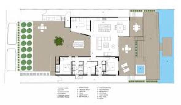 7-plantas de casas com piscinas modelos