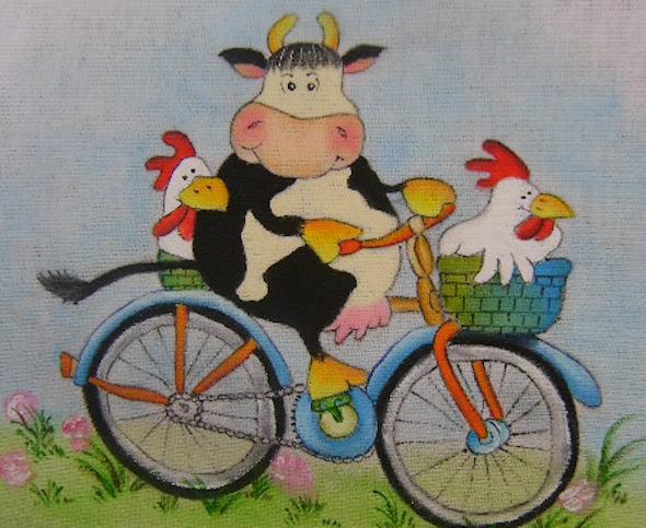 Pintura de fazenda em tecido10