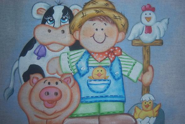 Pintura de fazenda em tecido12