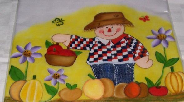 Pintura de fazenda em tecido13