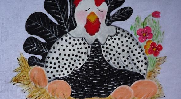 Pintura de fazenda em tecido14
