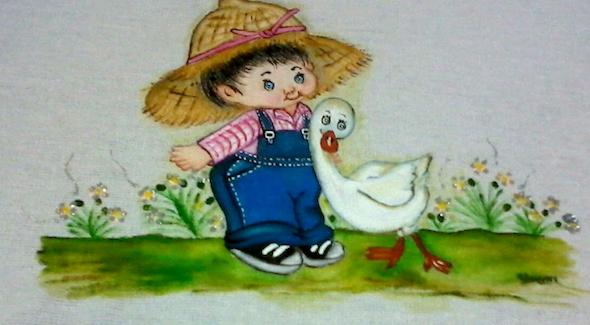 Pintura de fazenda em tecido5