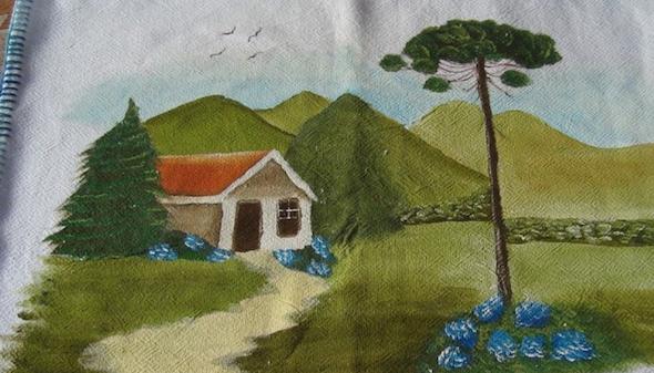 Pintura de fazenda em tecido9