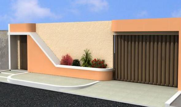 7-Frente de casas com muros exemplos bonitos