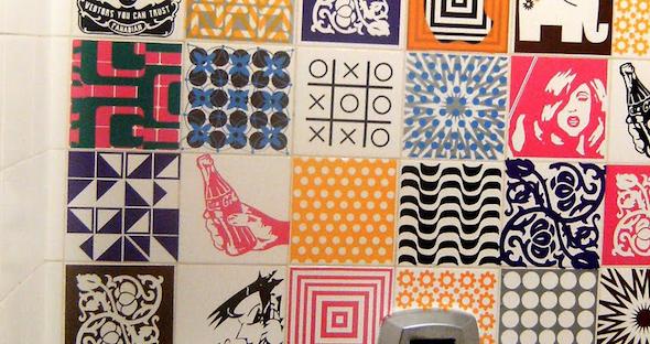 Como fazer adesivo de azulejo 5