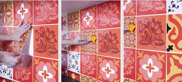 Como fazer adesivo de azulejo c10