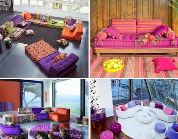 Móveis coloridos para sala2