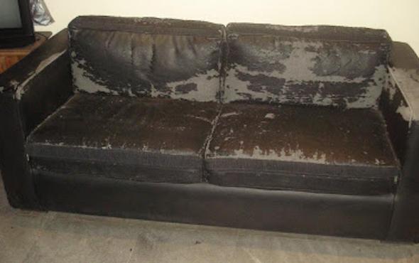 Tecido do sofá descascando como evitar 4