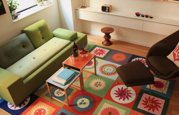 tapete colorido na decoracao