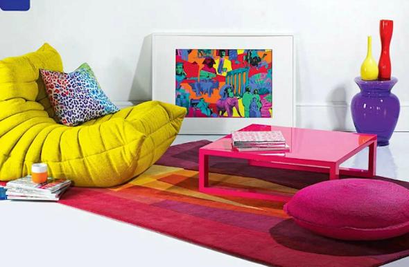 tapete colorido na decoracao9