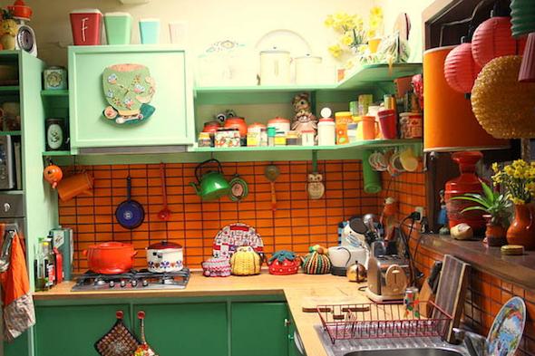 cozinhas multicoloridas modelos17