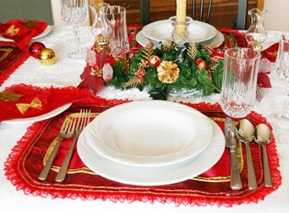 Decorar a mesa de Natal 2013