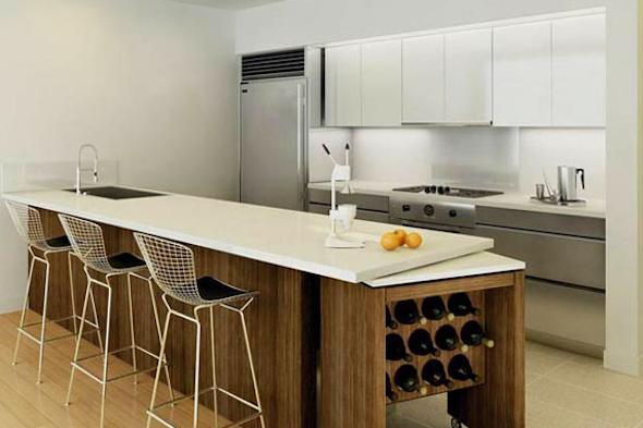 Bancadas de madeira na cozinha1