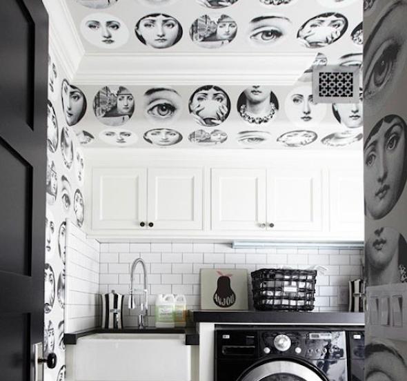 Decorar uma lavanderia retrô4
