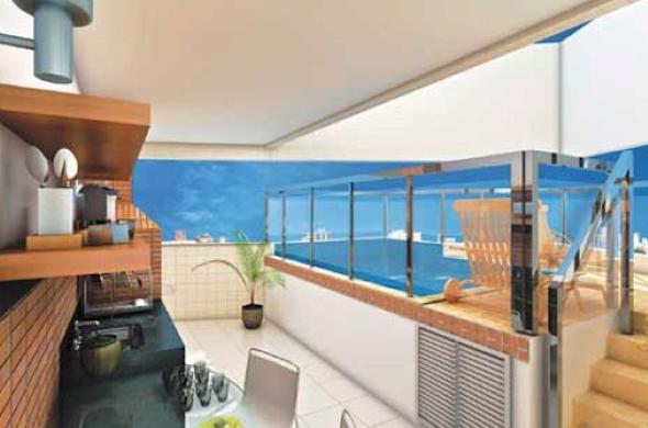 Piscina integrada com a varanda13