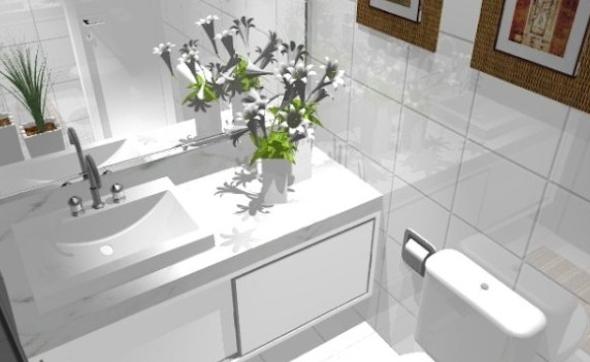 decorar banheiro comercial e escritorio