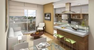 Cozinha integrada com a sala 001