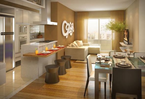 Cozinha integrada com a sala 11