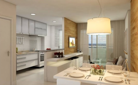 Cozinha integrada com a sala 4