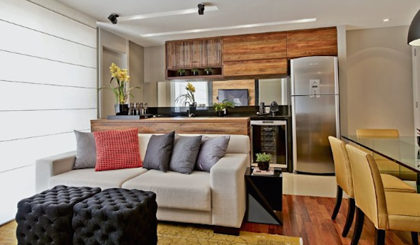 Cozinha integrada com a sala 9