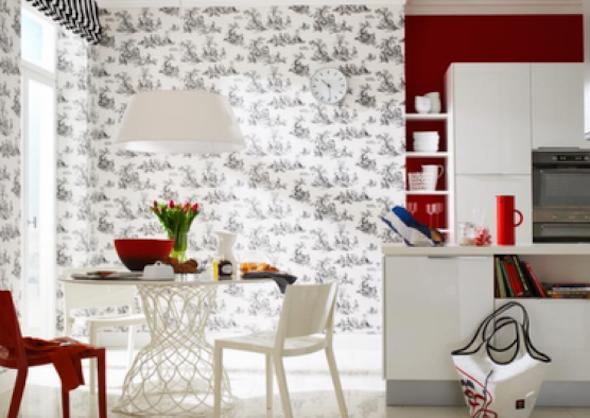 Papel de parede na cozinha 8