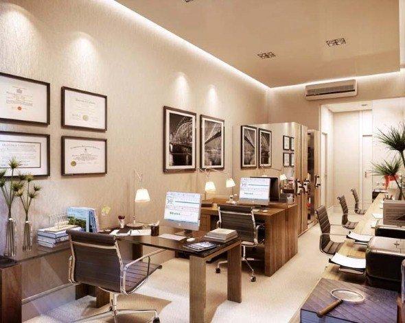 13 escritórios de contabilidade decorados e 4 elementos básicos -> Escritorio Decorado Pequeno