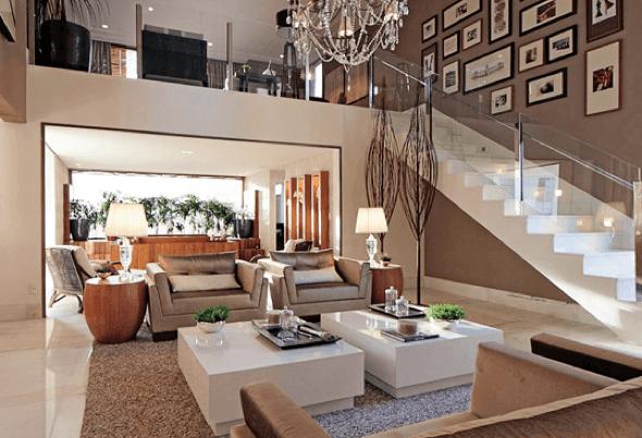 13-Tapetes para sala de estar modelos