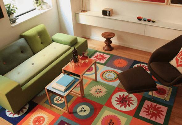 2-Tapetes para sala de estar modelos