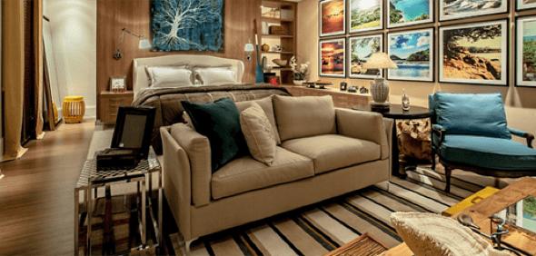 22-Tapetes para sala de estar modelos