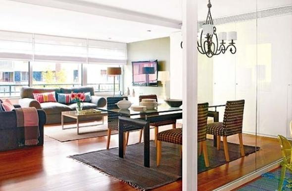 Como montar uma sala de estar na varanda do apartamento-2