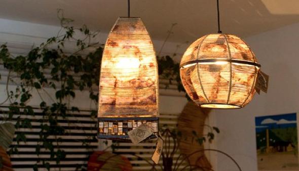 1-Como montar uma luminária pendente reciclável