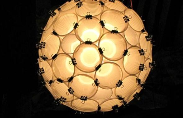 4-Como montar uma luminária pendente reciclável