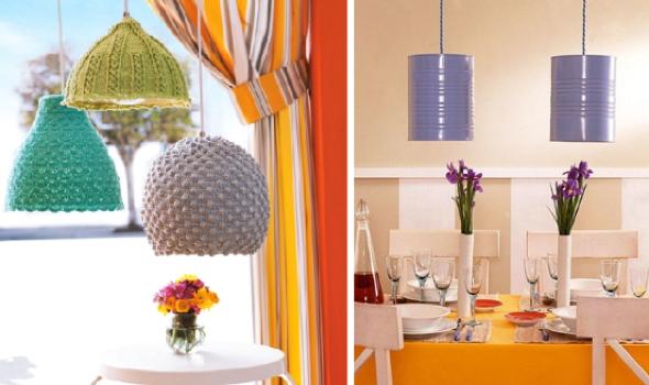 7-Como montar uma luminária pendente reciclável