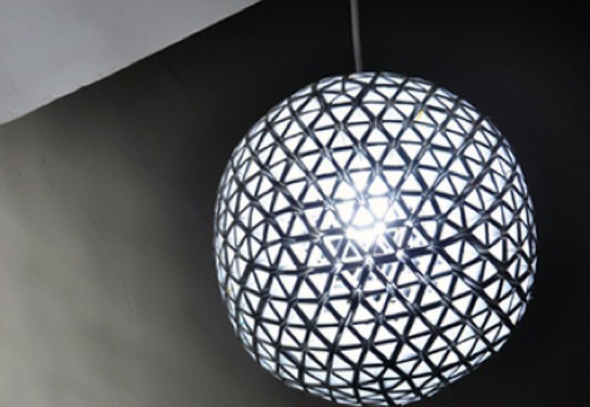 8-Como montar uma luminária pendente reciclável