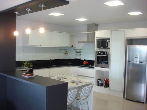 Bancada para cozinha branca 001