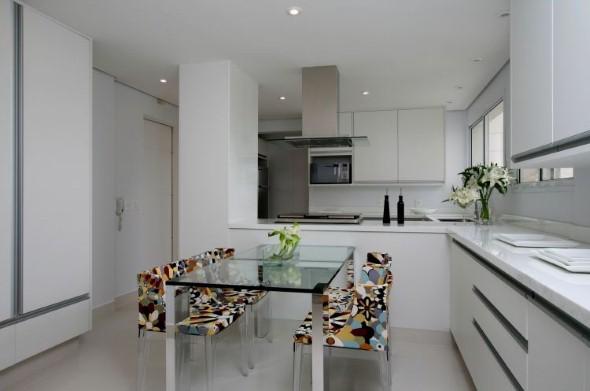 Bancada para cozinha branca 003