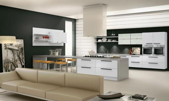 Bancada para cozinha branca 007