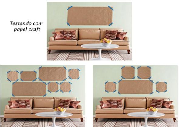 Como fazer arranjos de quadros nas paredes-2